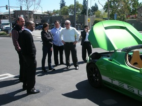 CEVT Students & Tesla electric car