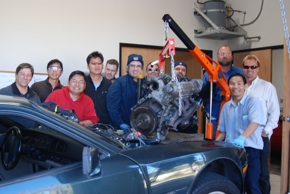Cleantech Institute- Porsche 944-removed engine